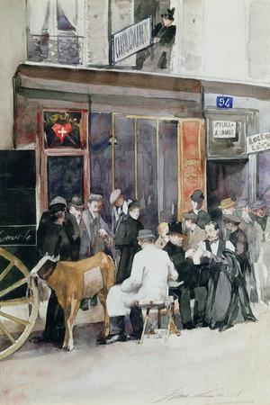 Performing a Public Vaccination Against Smallpox in the Street of Paris, C. 1900
