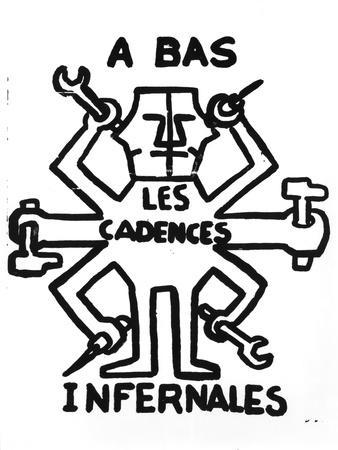 Down with the Infernal Cadence', Street Poster of the Student Revolt, Paris, May 1968