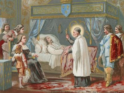 St Vincent De Paul Assisting King Louis XIII of France in His Final Moments, 1643