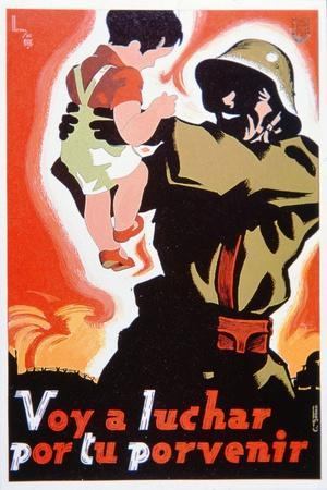 I Go to Fight for Your Future', Poster Issued by the General Union of Workers in Spain, 1938