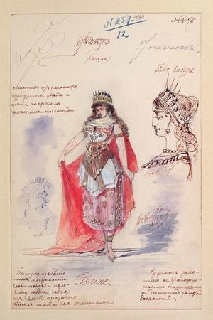 Costume Designs for the Role of Phrine in the Opera 'Faust'
