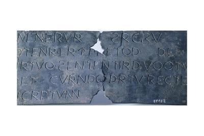 Inscription in Faliscan Language Dedicated to Minerva