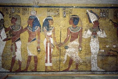 Tutankhamun before Osiris