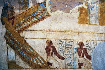 Nephthys and Deceased Kneeling