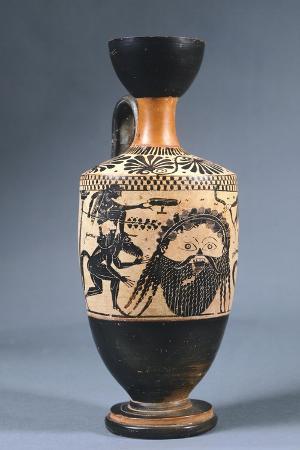 Lekythos Depicting Mask of Dionysus