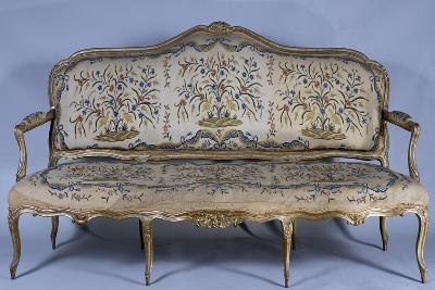 Rococo Style Carved and Gilded Sofa