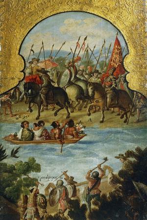 Spanish Troops Arriving in Tenochtitlan in 1520