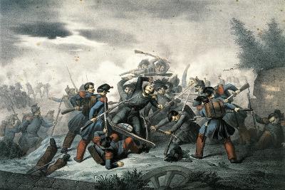 Emilio Morosini's Death in Combat at Villa Spada