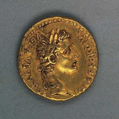 Tiberius Aureus Bearing Image of Emperor