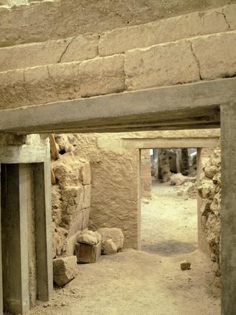 Excavations at the Archaeological Site of Akrotiri on Thera, Now Santorini, Greece