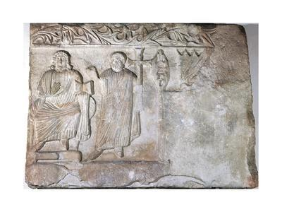 Relief Depicting Christ and St Peter