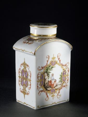 Tea Caddy with Saxon Decorations