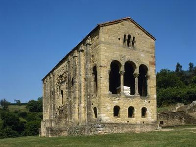 Pre-Romanesque Asturian Architecture. Spain. Church of St Mary at Mount Naranco