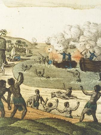 The Massacre of De Lange and Two Other Crews from Water from the Travels