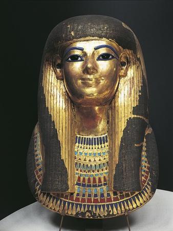 Kingdom of Amenhotep Iii. Burial Mask of Tuya Made of Plastered Cloth