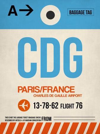 CDG Paris Luggage Tag 2