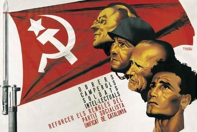 Spanish Civil War Poster for the Socialist Party of Catalonia