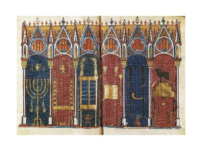 Illustration of the Temple of Solomon, 'Scholastic History' , 12th C
