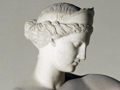 Aphrodite of Capua, Detail of Head