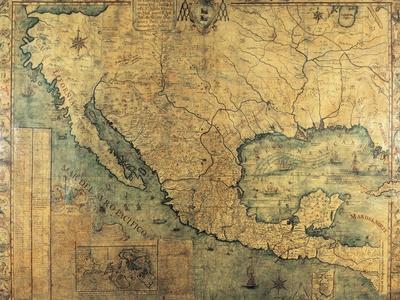 Map of Nueva Espana