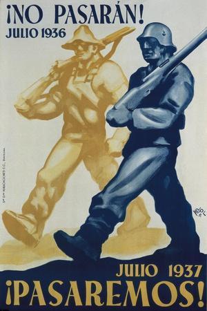 Nationalist Spanish Civil War Poster