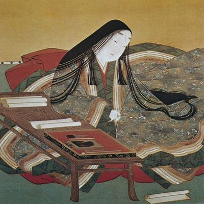 Illustration from 'The Tale of Genji' of Japanese Court Lady of the Heian Period