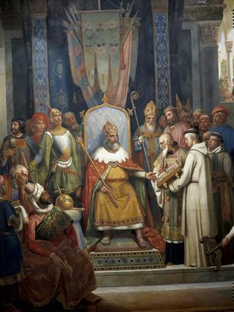 Charlemagne Receives Alcuin of York