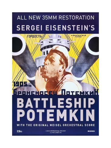Potemkin 1925 Russian cult movie poster print