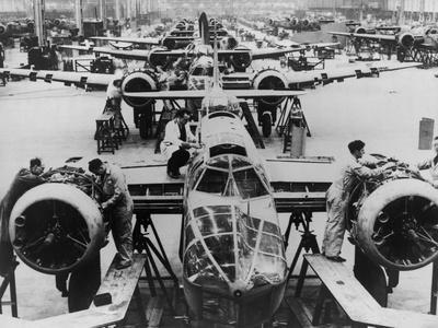 Great Britain Manufacturing Blenheim Bombers at the Beginning of World War 2