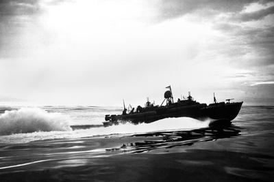 PT Boat Off Coast of New Guinea During World War 2
