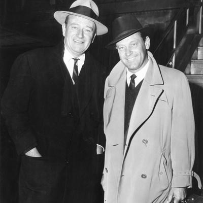 John Wayne, William Holden in New York City, 1960