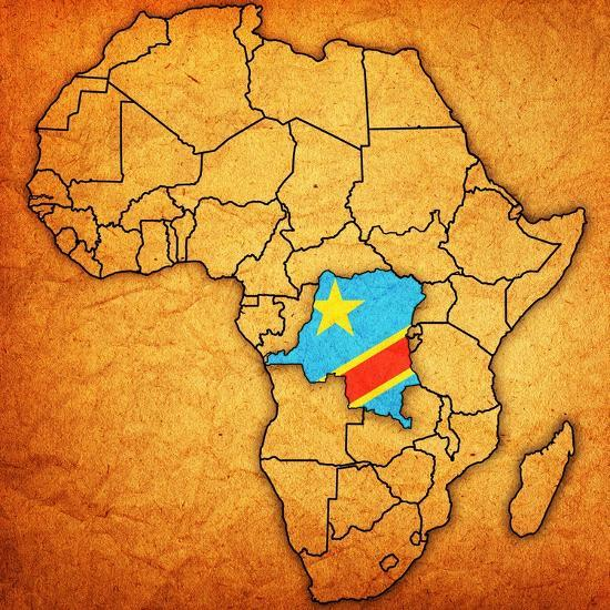 Congo On Africa Map.Democratic Republic Of Congo On Actual Map Of Africa Posters By