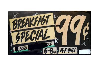 Grungy Breakfast Sign