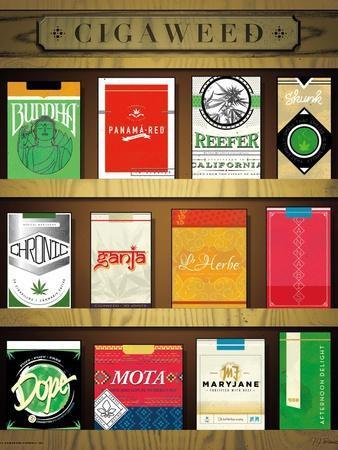 Cigaweed Brand Display