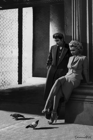 Marilyn and Elvis On the Street Corner