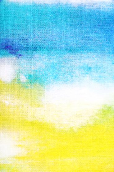 Abstract Textured Background White And Yellow Patterns On Blue Sky Like Backdrop For Art Texture