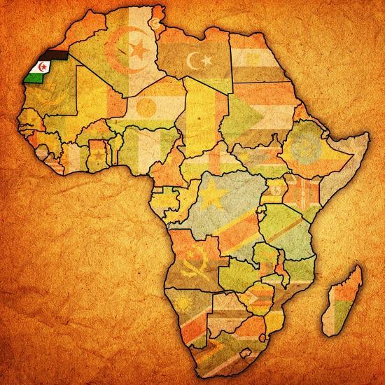 Map Of Africa Sahara.Western Sahara On Actual Map Of Africa