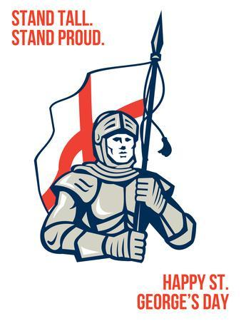 Stand Tall Proud English Happy St George Greeting Card