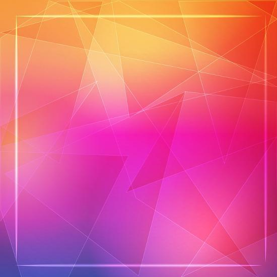 Abstract Orange Pink Background With Shining White Lines And Frame