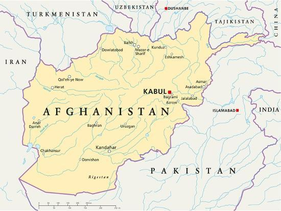 Afghanistan Political Map Prints By Peter Hermes Furian At