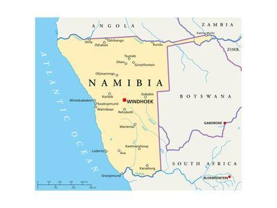 Namibia Political Map