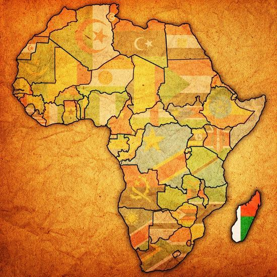 Madagascar On Actual Map Of Africa Posters By Michal812 At