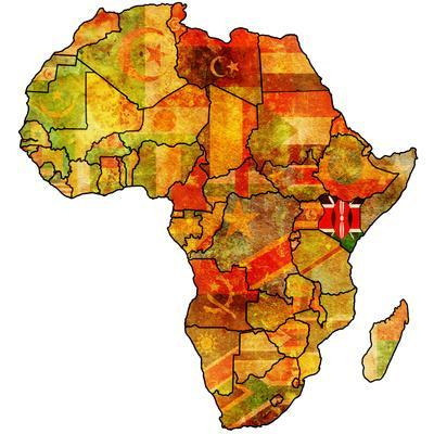 Kenya on Actual Map of Africa