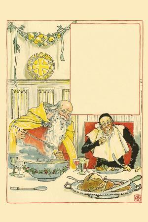Father Christmas Served Ash Wednesday a Great Feast and Plied Him with Cider