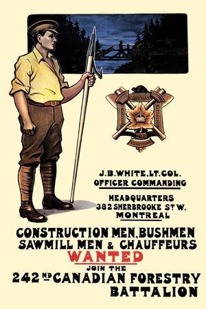 Construction Men, Bushmen, Sawmill Men and Chauffeurs Wanted