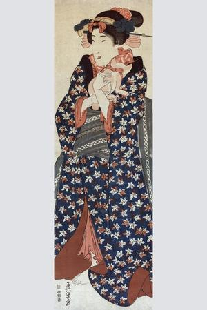 Young Lady Holding a Cat (Neko O Idaku Museum)