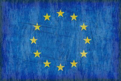 Grungy European Flag