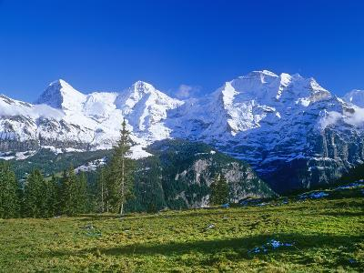 The Eiger, Jungfrau,And Monch Mountains