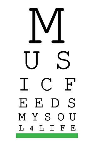 Music 4 Life Eye Chart 3