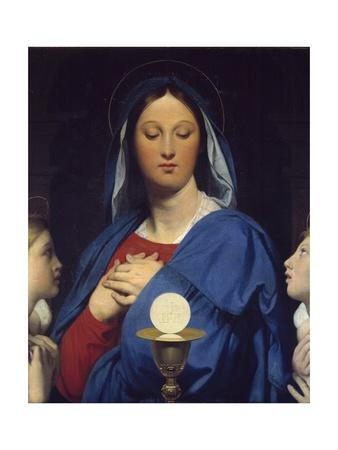 The Virgin Adoring the Host by Jean Auguste Dominique Ingres